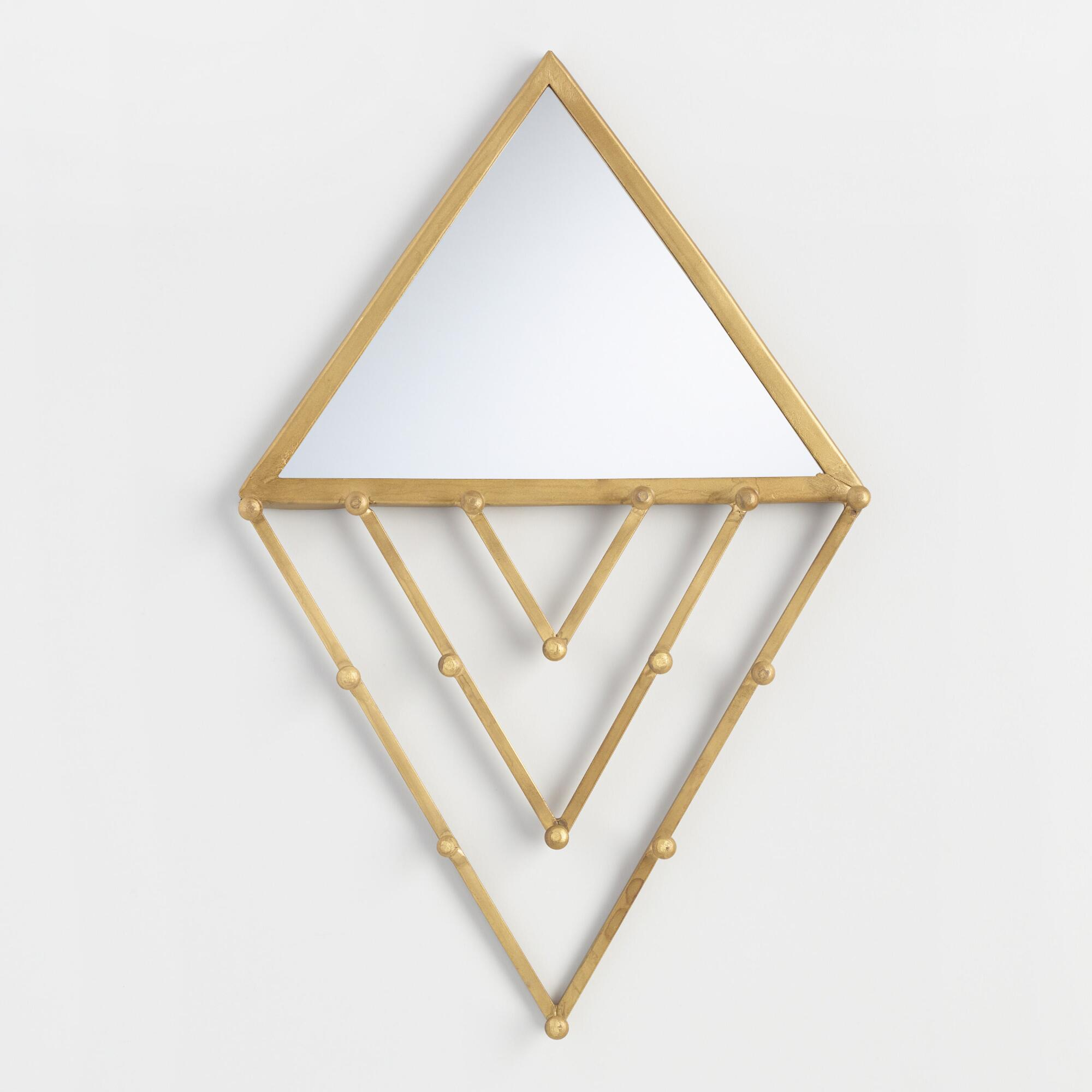Diamond Mirror Wall Jewelry Holder by World Market