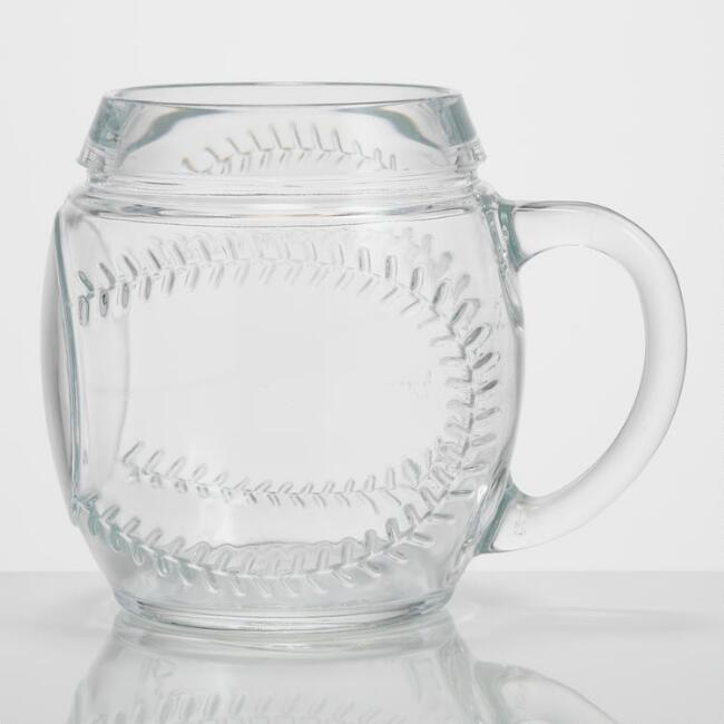 Glass Baseball Mug