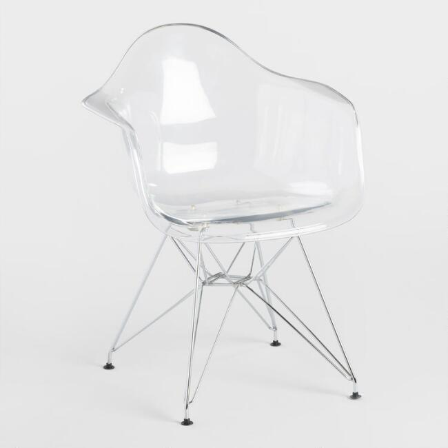 Clear Molded Evie Armchairs Set of 2