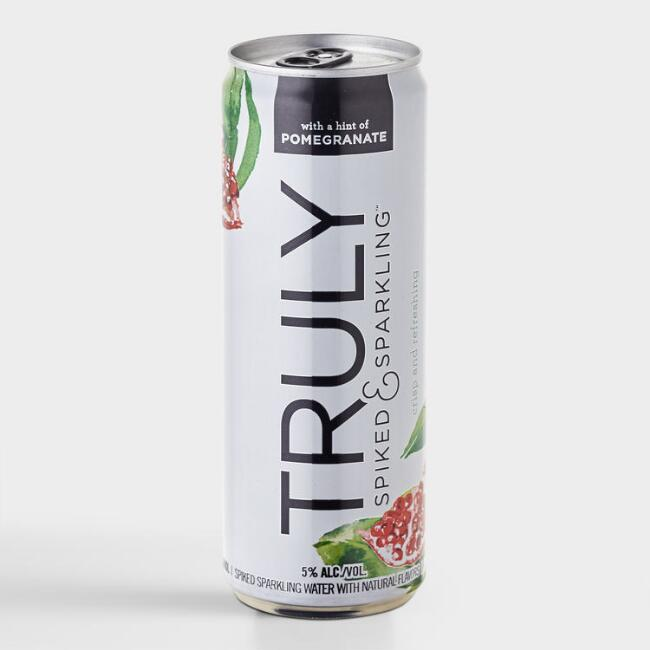 Truly Spiked and Sparkling Pomegranate Hard Seltzer