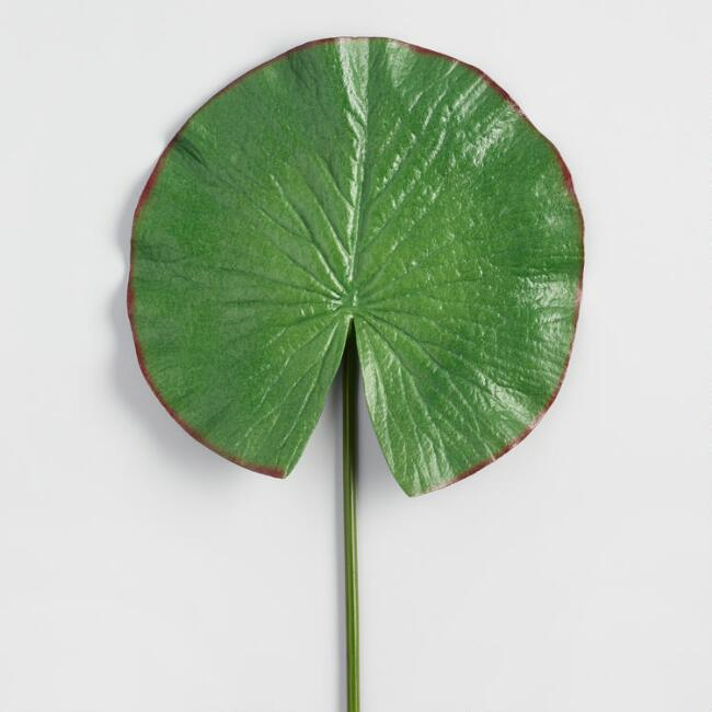 Faux Water Lily Leaf Stem