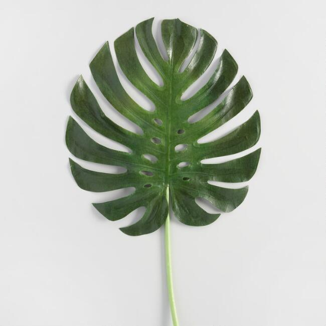 Faux Monstera Leaf Stem