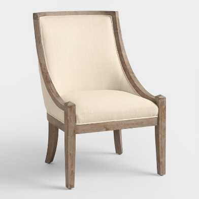 Natural Henry High Back Accent Chair