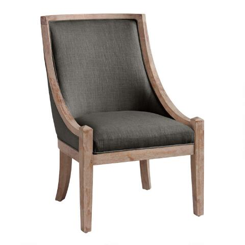 Pleasant Charcoal Henry High Back Accent Chair Onthecornerstone Fun Painted Chair Ideas Images Onthecornerstoneorg