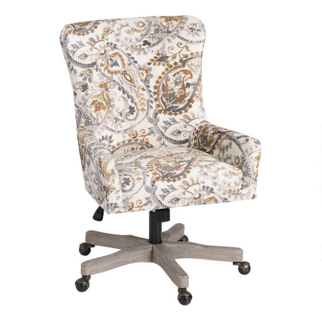 natural paisley trystan upholstered office chair world market