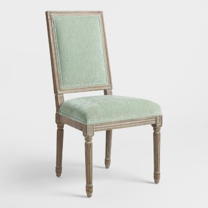Bok Choy Green Paige Square Back Dining Chairs