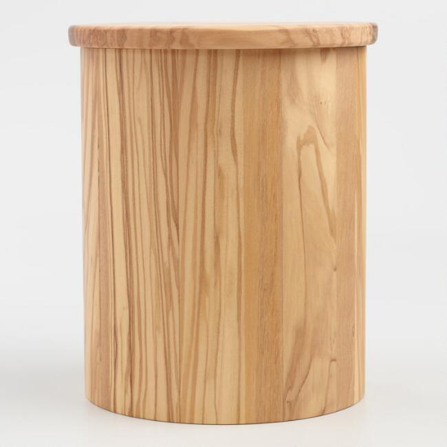 Olive Wood Canister with Lid