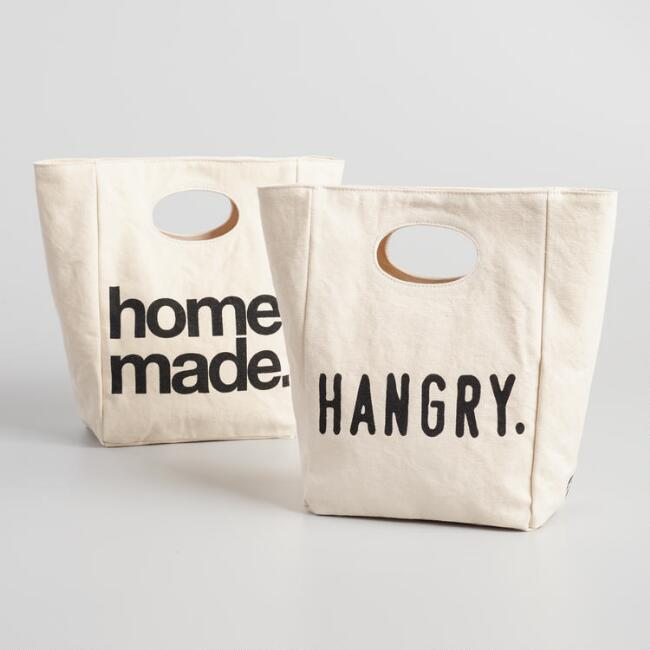 Hangry and Homemade Fluf Organic Cotton Lunch Bags Set of 2