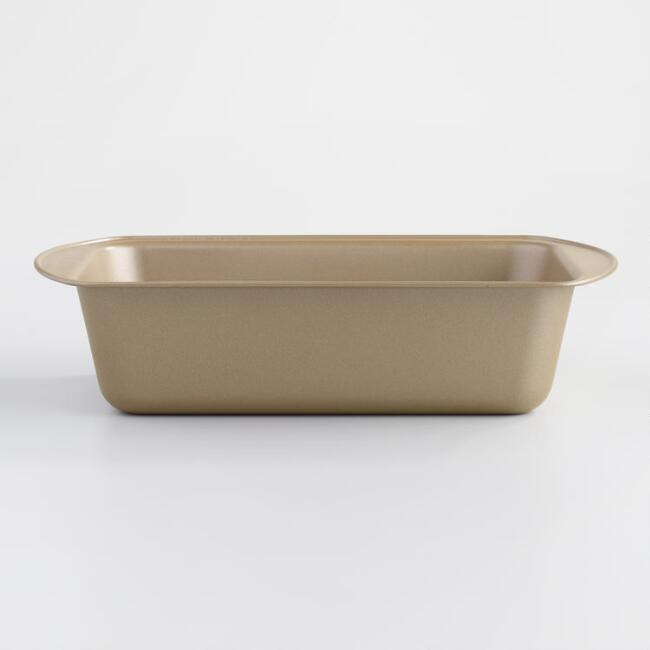 Gold Luxe Textured Nonstick Loaf Pan