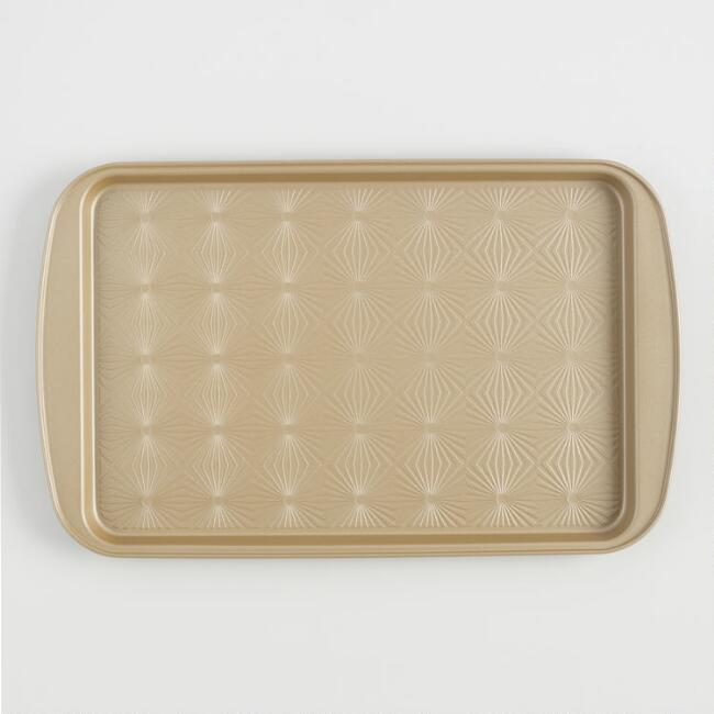Gold Luxe Textured Nonstick Baking Sheet