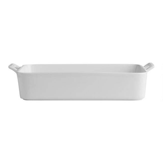 White Ceramic Lasagna Pan