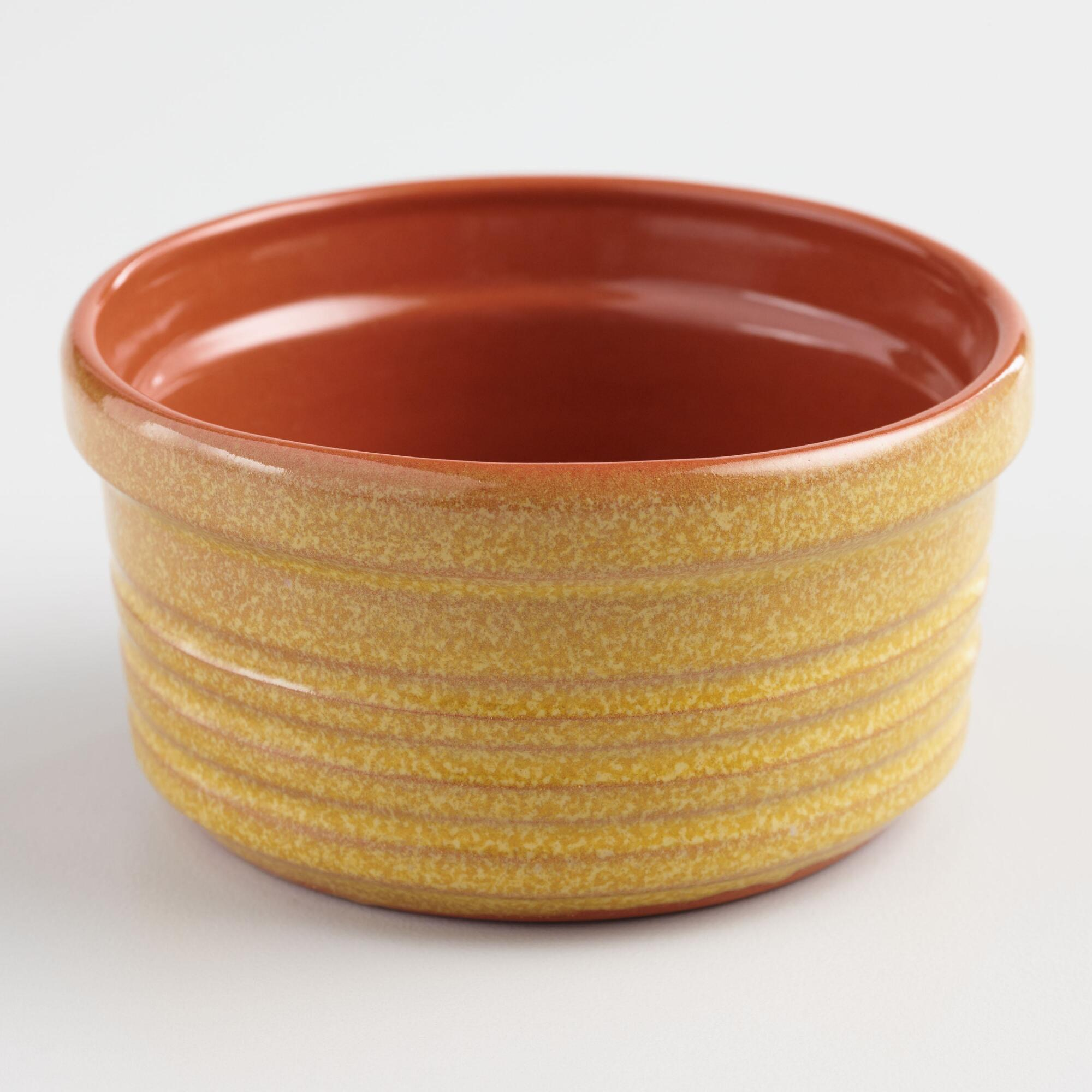Yellow Reactive Glaze Terracotta Ramekin by World Market