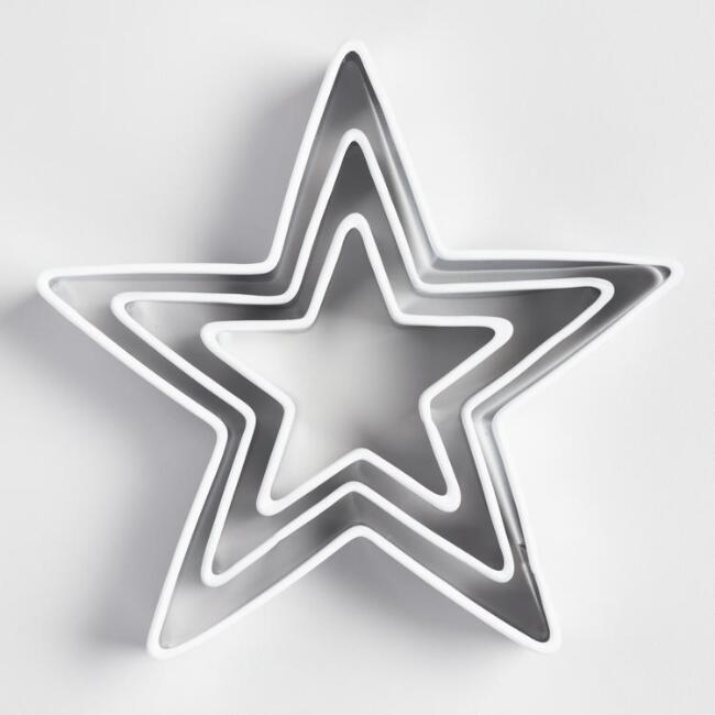 Star Silicone Cookie Cutters Set of 3