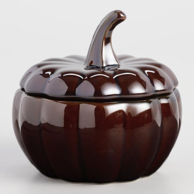 Brown Pumpkin Bakers Set of 4