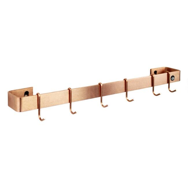 Enclume Brushed Copper Wall Pot Rack