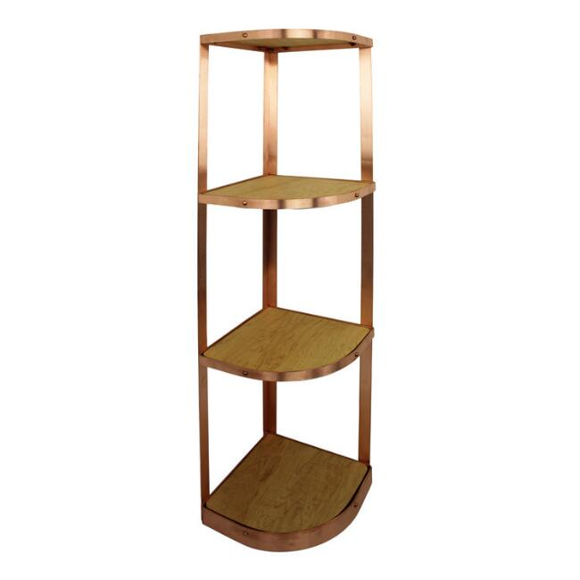 Enclume Brushed Copper 4 Tier Corner Cookware Stand