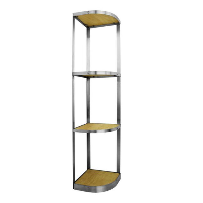 Enclume Brushed Stainless Steel 4 Tier Corner Cookware Stand