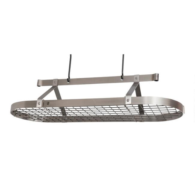 Enclume 4' Brushed Stainless Steel Ceiling Pot Rack