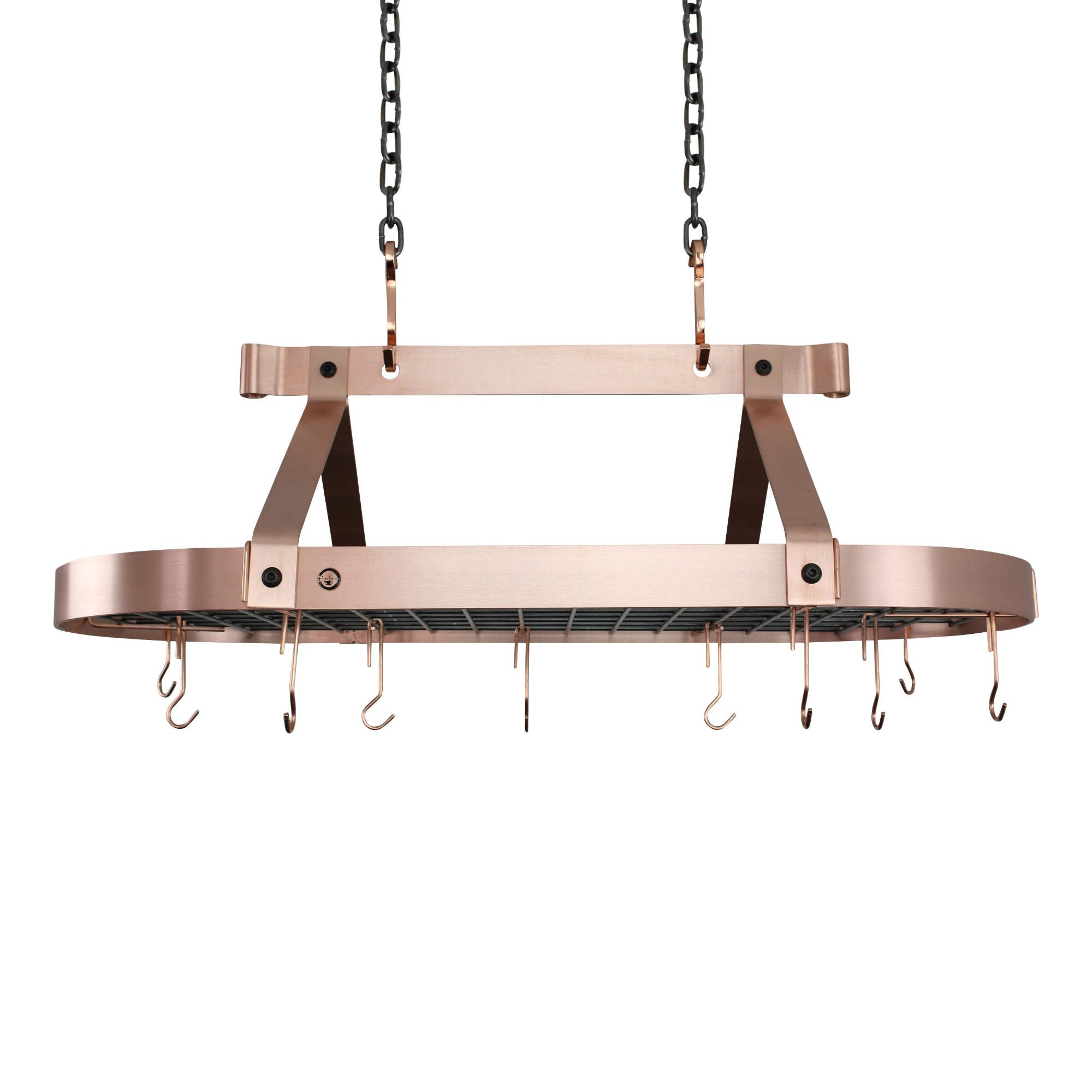 Enclume 3' Brushed Copper Ceiling Pot Rack by World Market