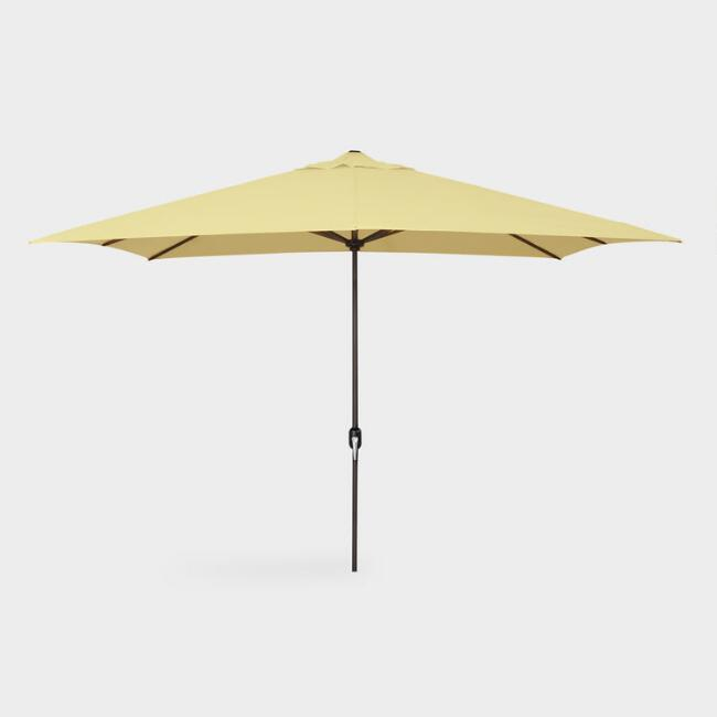 Canary Yellow 6.5 ft Rectangular Outdoor Umbrella