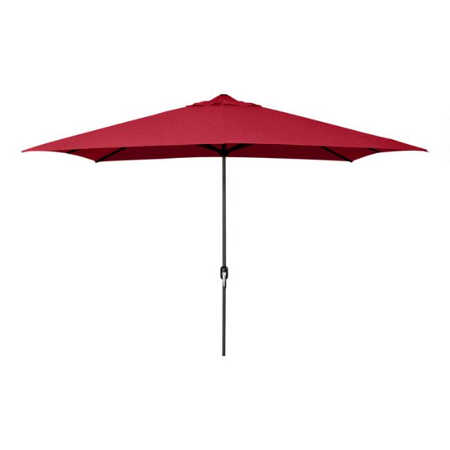 Red Rectangular Outdoor Umbrella