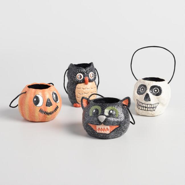 Paper Pulp Halloween Containers Set of 4