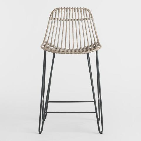 Miraculous Rattan And Metal Hairpin Flynn Counter Stools Set Of 2 Pdpeps Interior Chair Design Pdpepsorg