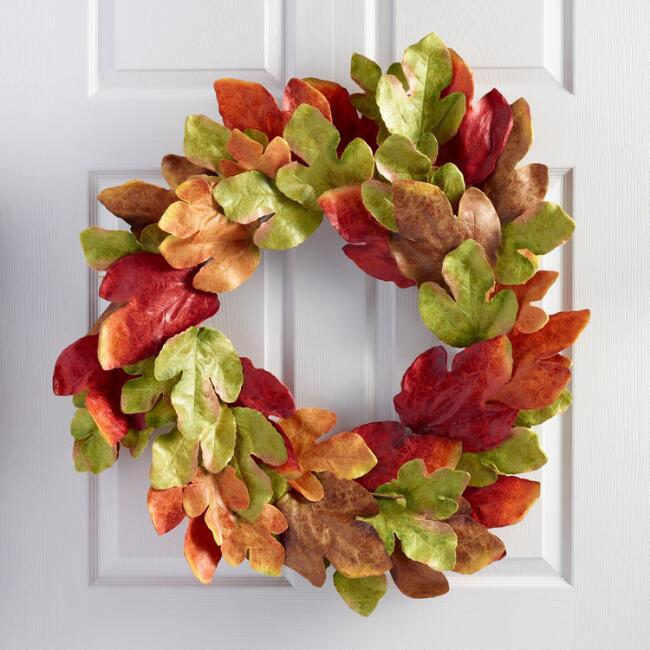 Texas Maple Leaf Wreath