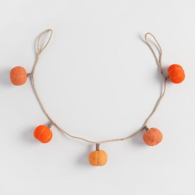 Felted Wool Pumpkin Garland