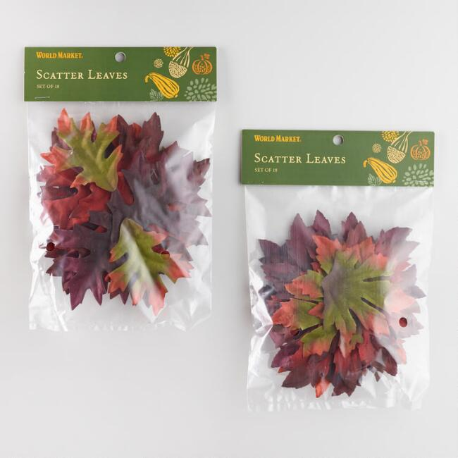 Fall Scatter Leaves Set of 2