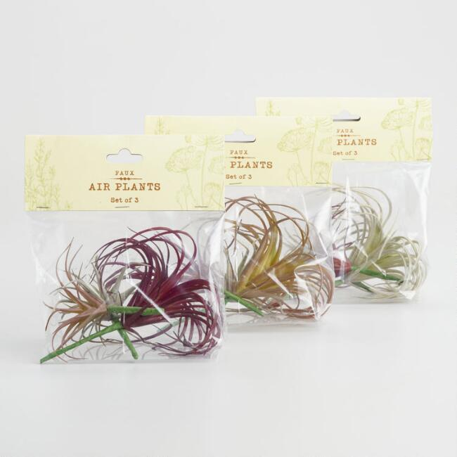 3 Pack of Faux Air Plants Set of 3
