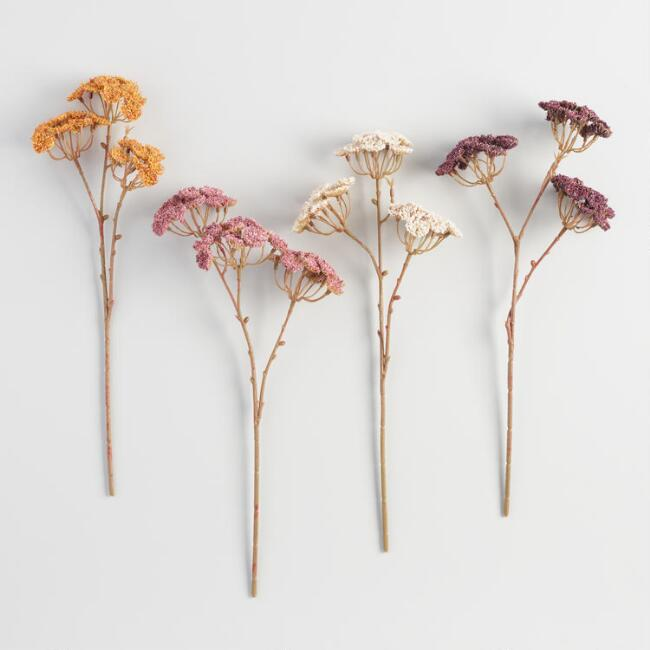 Faux Queen Anne's Lace Sprays Set of 4