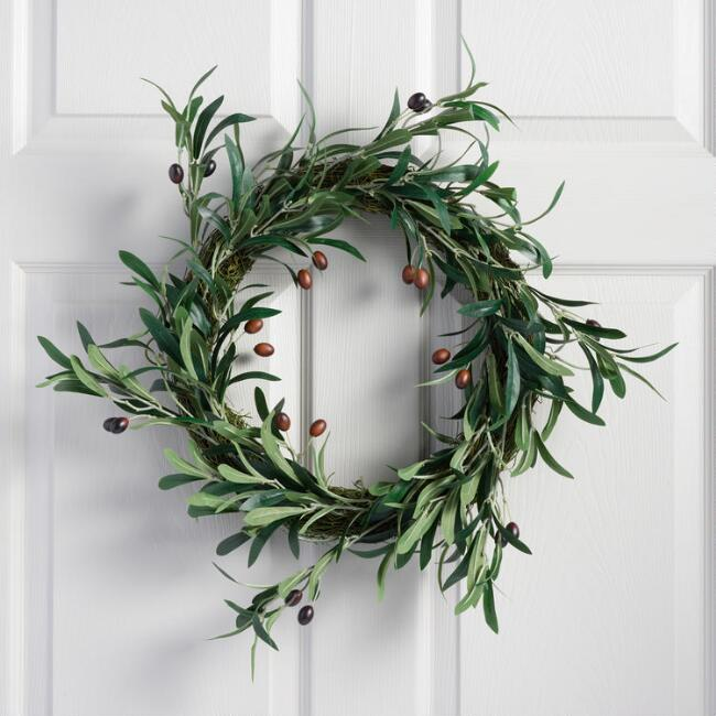 Faux Olive Branch Wreath World Market