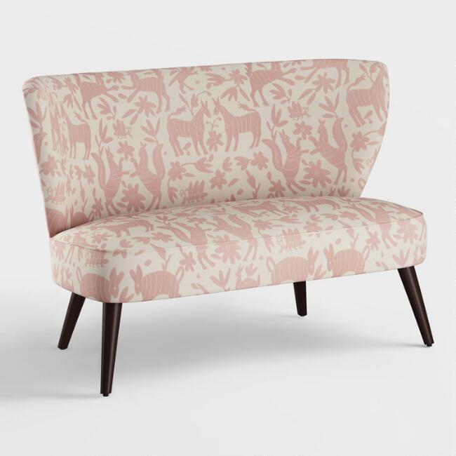 Blush Pinata Kenway Upholstered Loveseat