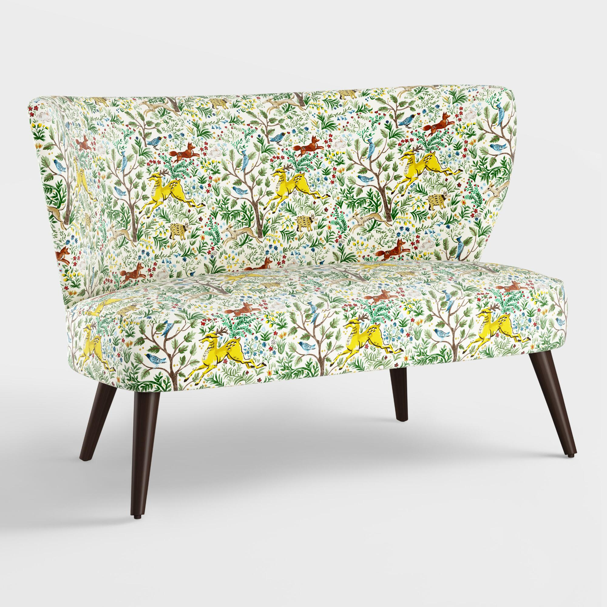 Forest Frolic Kenway Upholstered Loveseat: Multi - Fabric by World Market