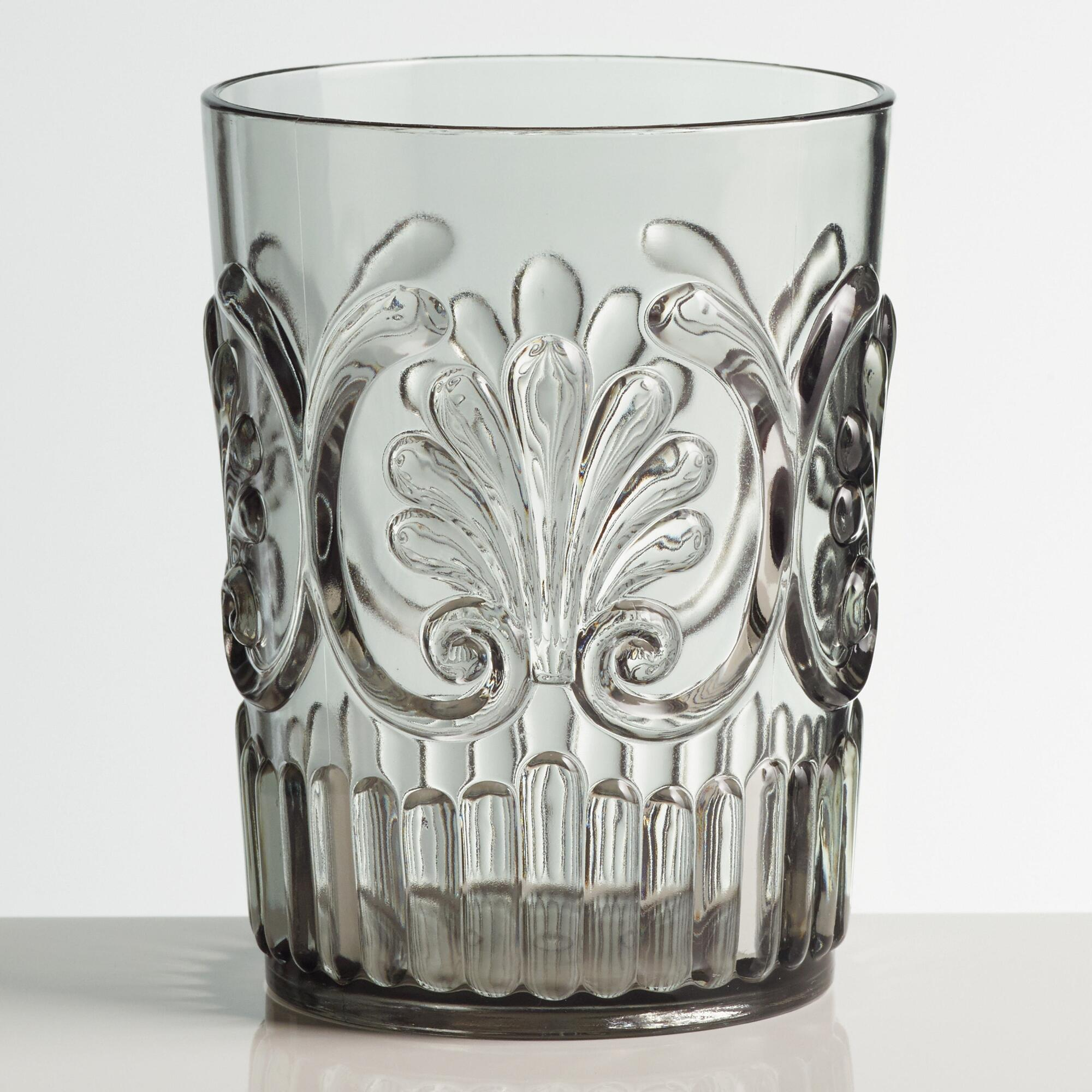 Grey Pacific Acrylic Tumbler Glasses Set of 2: Gray by World Market