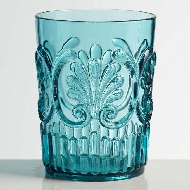 Aqua Pacific Acrylic Tumbler Glasses Set of 2