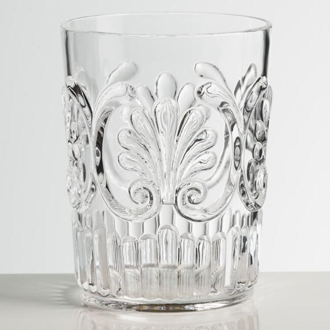 Clear Pacific Acrylic Tumbler Glasses Set of 2