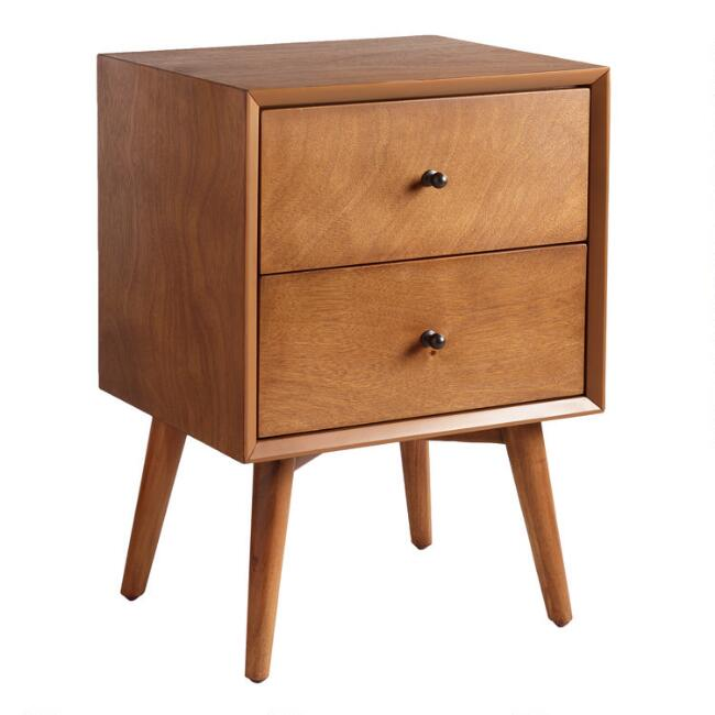 Acorn Wood Brewton Nightstand with Drawers