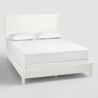 White Wood Brewton Bed