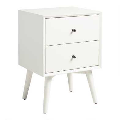 White Wood Brewton Nightstand