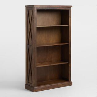 Wood Farmhouse Four Shelf Bookshelf