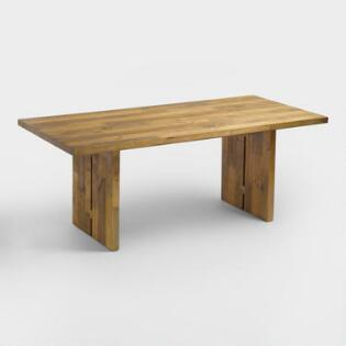 Reclaimed Pine Nolan Dining Table. Unique Rustic Dining Room Furniture Sets   World Market