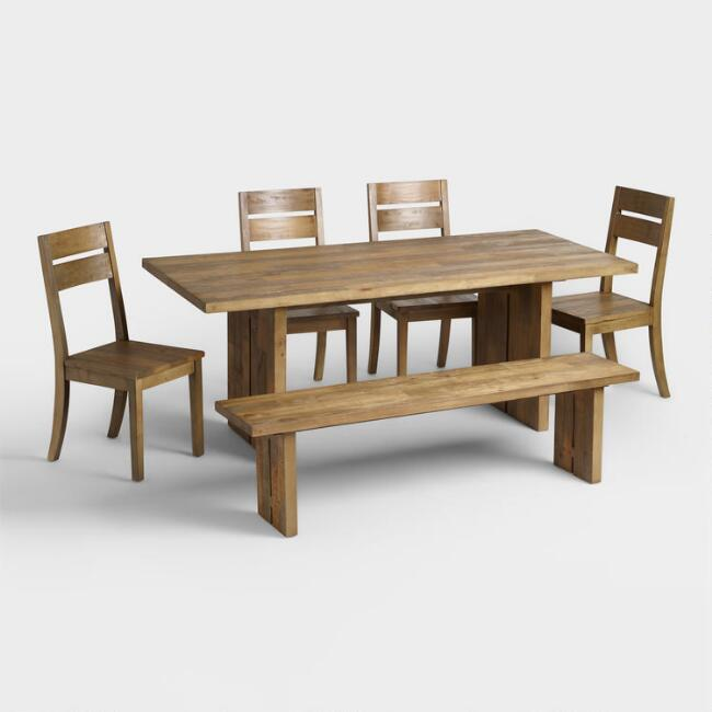 Reclaimed Pine Nolan Dining Furniture Collection. Reclaimed Pine Nolan Dining Furniture Collection   World Market