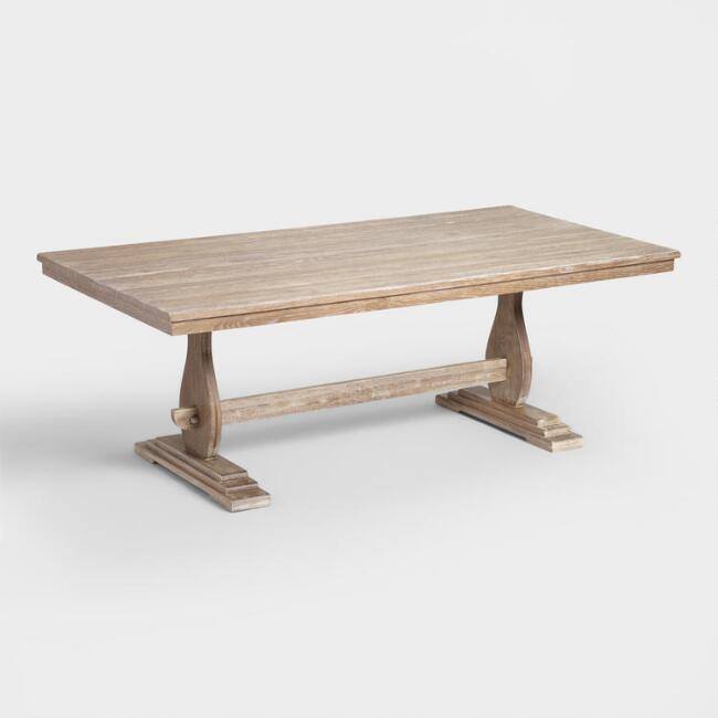 Rustic Oak Ariana Fixed Dining Table