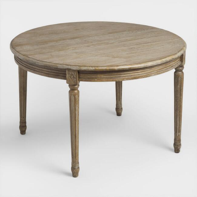 round wood paige dining table world market - Dining Table Round Wood