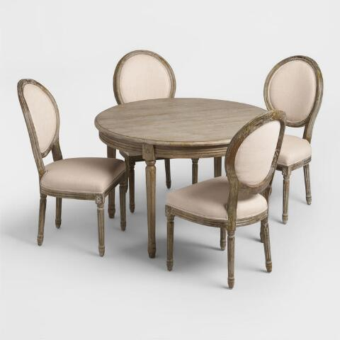 Round Wood Paige Dining Table World Market