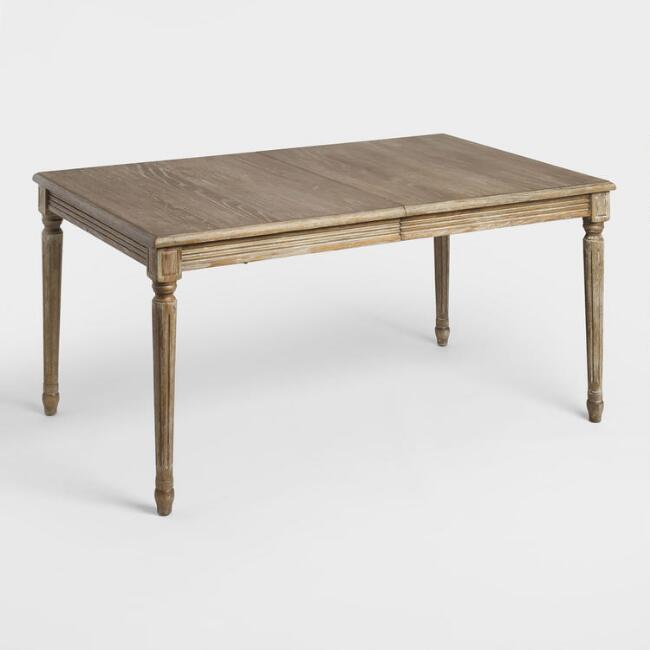 wood paige extension dining table world market