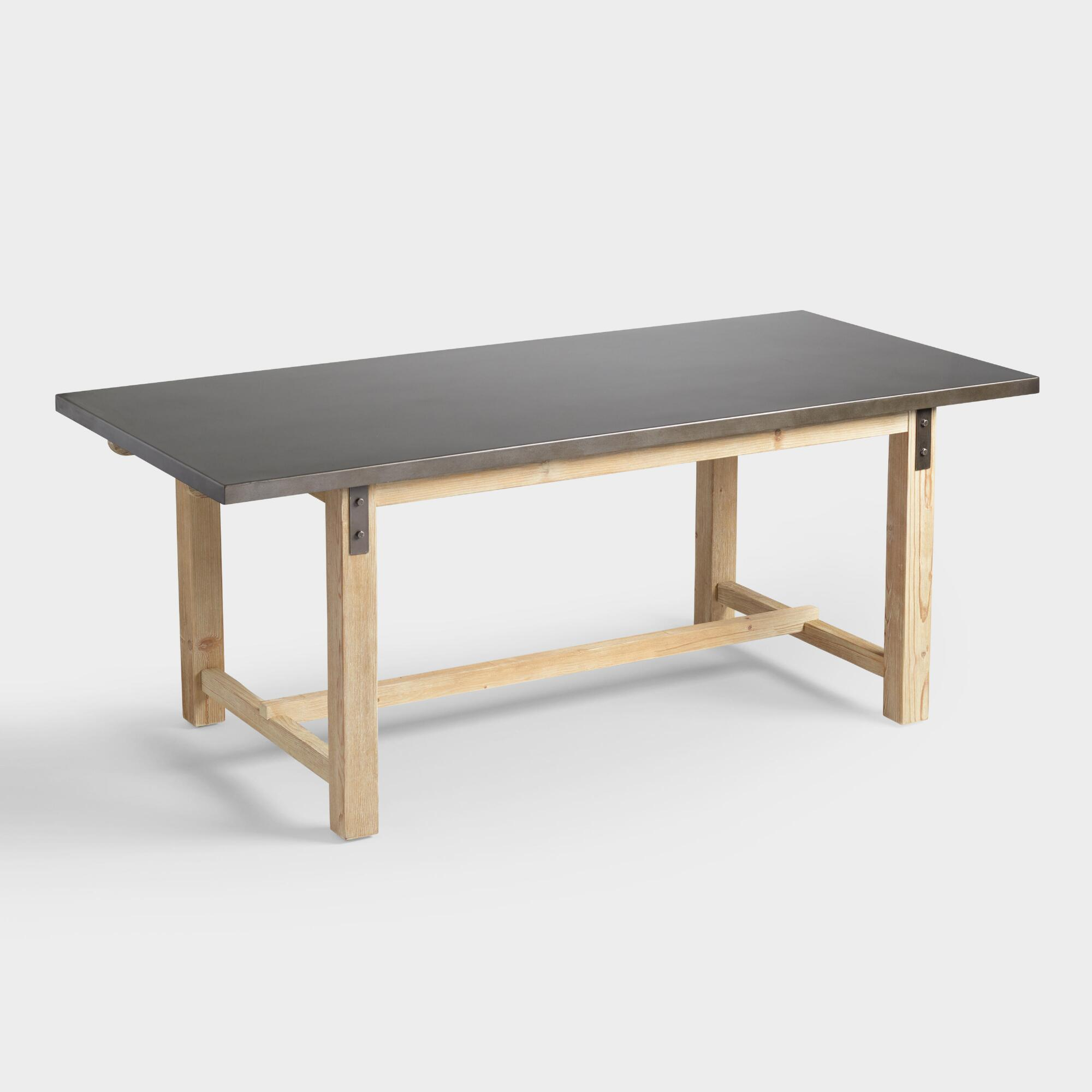 Metal Top Wyatt Dining Table