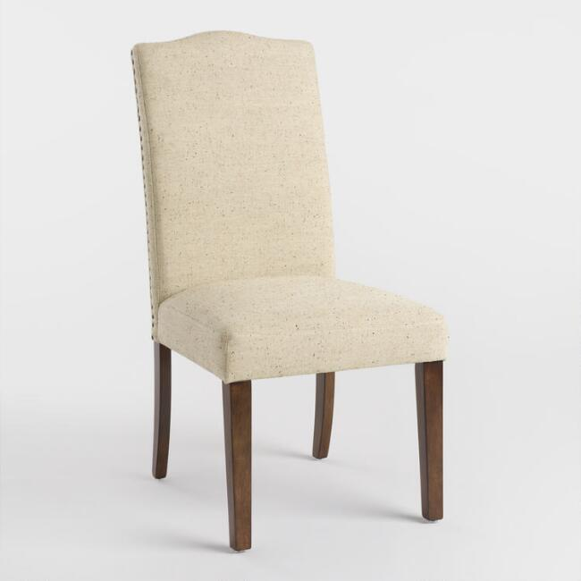 Dune Ivory Camel Back Asher Chair Set of 2